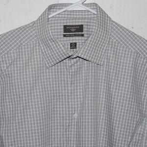Dockers button down mens shirt sz 17  17 1/2 J359